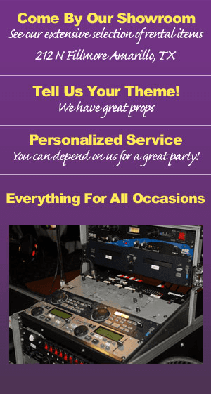 Weddings, Parties, and Conventions - Amarillo, TX - Display Concepts Party Rentals