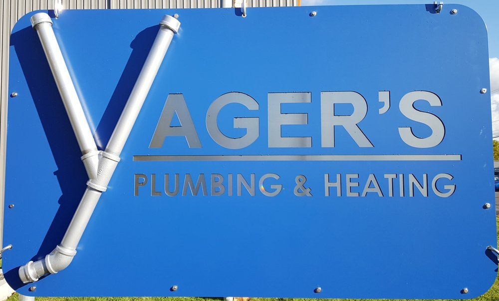 Yager's Plumbing & Heating sign