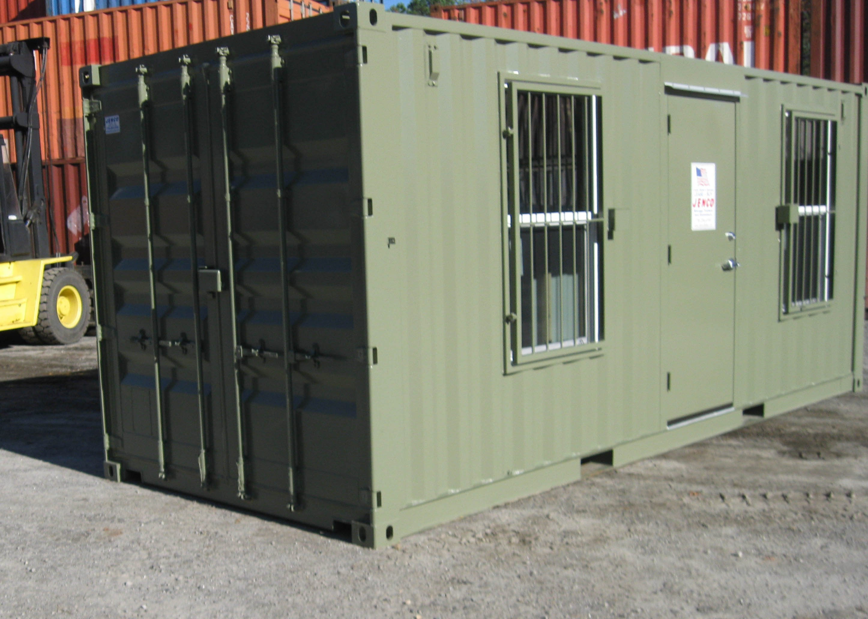 Modified 20ft. Containers
