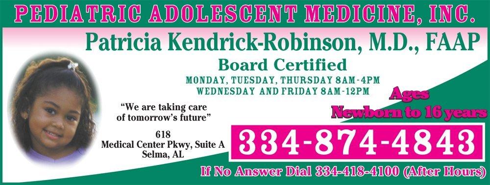 Pediatric Physician - Selma, AL - Pediatric Adolescent Medicine, Inc.
