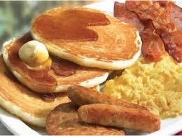 Pancakes Sausages Eggs