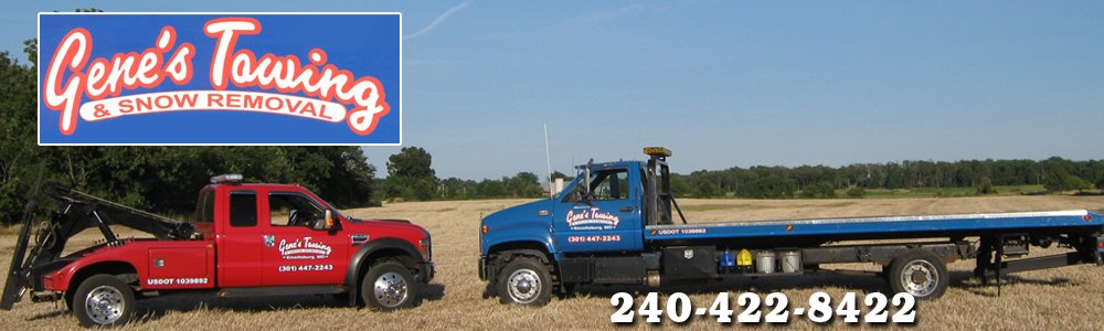 Towing Services - Emmitsburg, MD - Gene's Towing & Snow Removal
