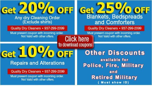 Coupon   Oakwood, OH   Quality Dry Cleaners   937-299-2099