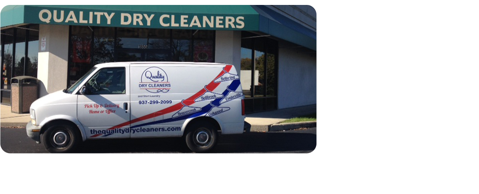 Quality Dry Cleaners Service truck