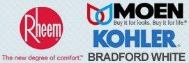 Bradford White, Kohler, Moen, Rheem