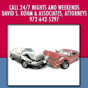 Dallas, TX Auto Accidents / Personal Injury Law
