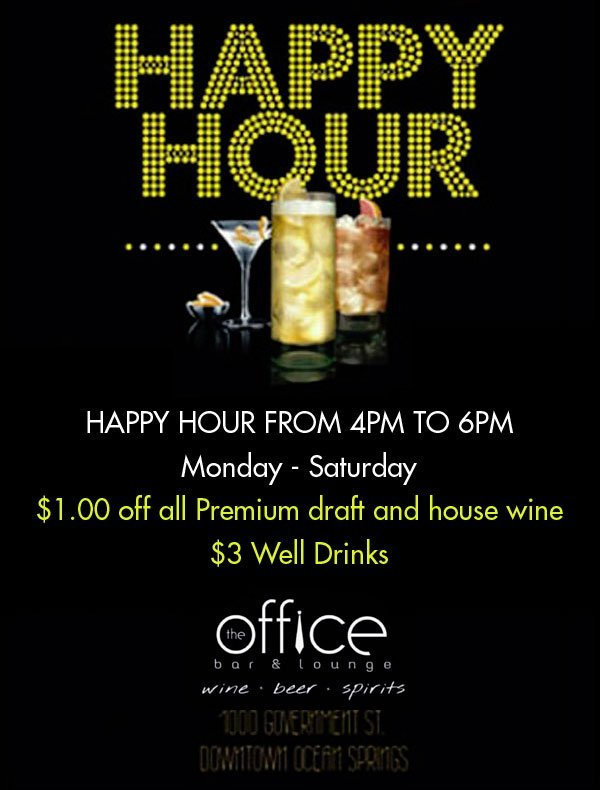 The Office Bar and Lounge Happy Hour Banner