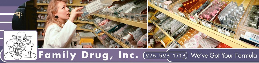 Pharmacy - Big Stone Gap, VA - Family Drug, Inc.