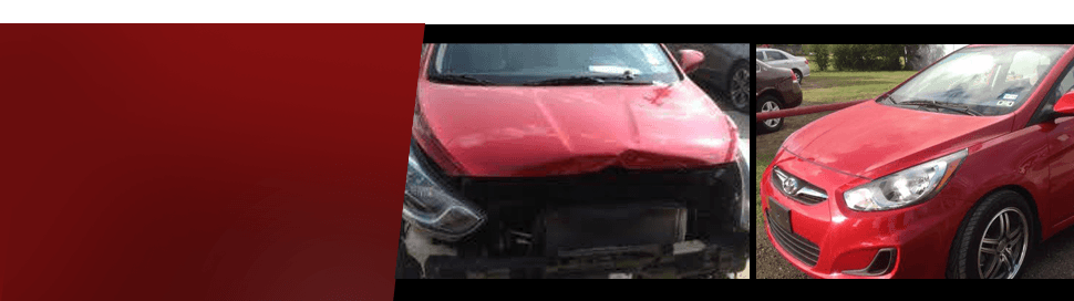 Red car touch-ups and collision repair