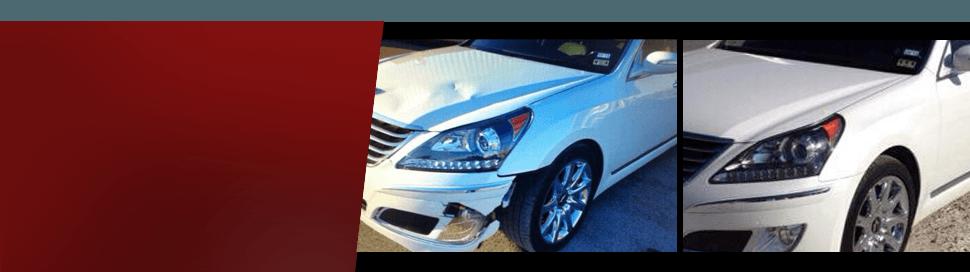 Red car collision repair