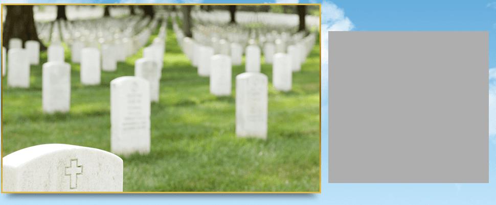 White gravestones
