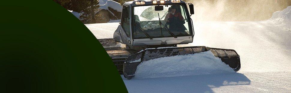 Snow removal using big machinery