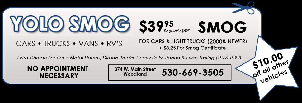 Yolo Smog Coupon | Woodland CA