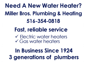 Water Heaters - New Hyde Park, NY - Miller Bros Plumbing & Heating Inc.