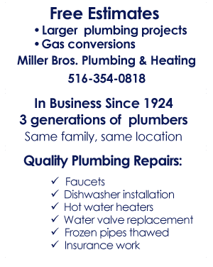 Plumbing Repairs - New Hyde Park, NY - Miller Bros Plumbing & Heating Inc.