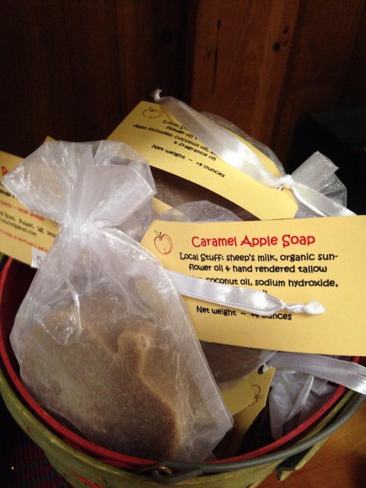 Caramel apple soap