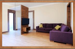 Shiny wood flooring