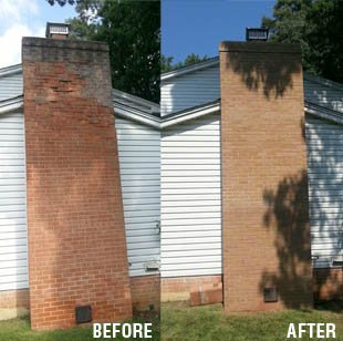 Before & After Chimney Cleaning Service