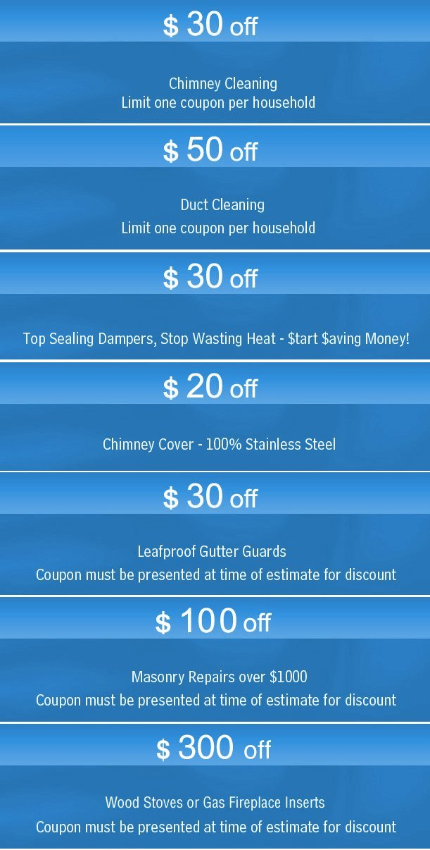 Magic Mountain Chimney Sweeps Coupons - Frederick, MD