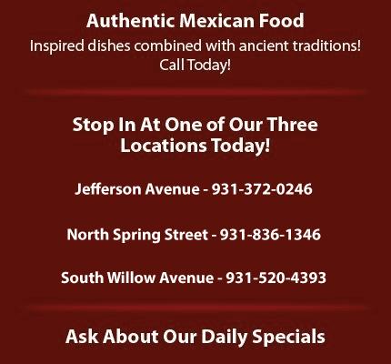 Mexican Restaurant  - Cookeville, TN - El Tapatio