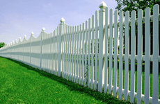 Wood fencing for a lawn garden