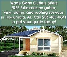 Roofing Contractor - Tuscumbia, AL - Wade Gann Gutters