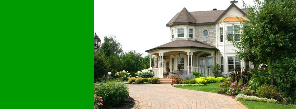 Beautifully landscaped front yard