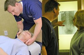 examining  the neck injuy, examining the x ray
