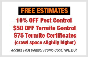 Accura Pest Control Coupons - Oklahoma City, OK