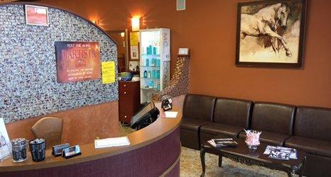 Inside the salon