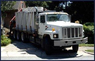 Septic service truck