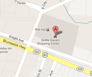 Satilla Square Shopping Center, Waycross, GA - LA Nails Salon & Spa and Lee Nail & Hair