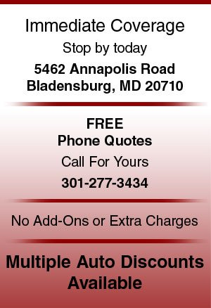 Auto insurance - Bladensburg, MD - Parkway Insurance Agency