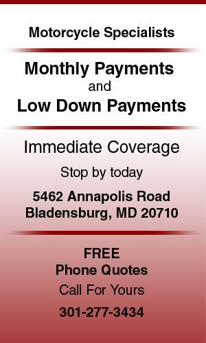 Motorcycle insurance - Bladensburg, MD - Parkway Insurance Agency