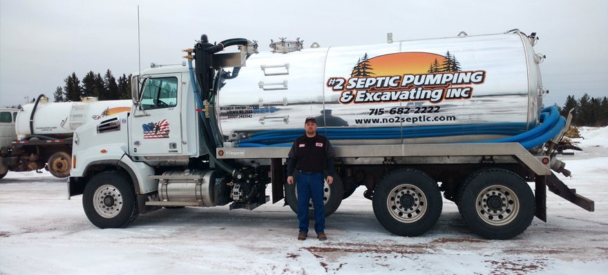 #2 Septic Pumping & Excavating Inc truck