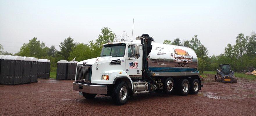 #2 Septic Pumping & Excavating Inc truck
