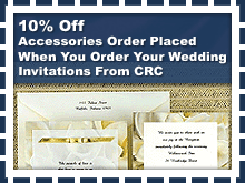 Printing - Huntersville, NC - CRC Printing Co, Inc. - Invitation Cards - 10% Off Accessories Order Placed When You Order Your Wedding Invitations From CRC