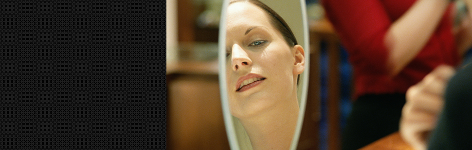 A lady in the mirror