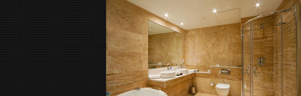 Big mirror in the bathroom