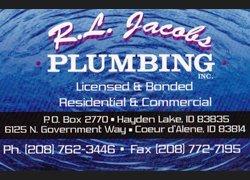Plumber - Coeur d' Alene, ID - RL Jacobs Plumbing Inc. - For all your plumbing needs