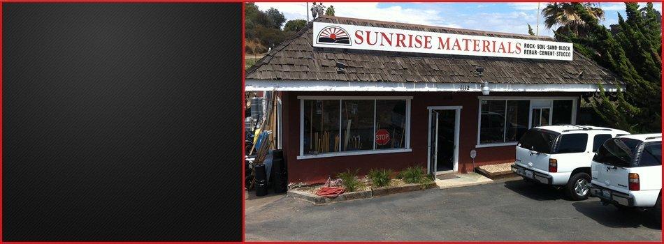 Top Soil Compost Decorative Rock Bark  | Vista, CA | Sunrise Materials Inc. | 760-726-9984