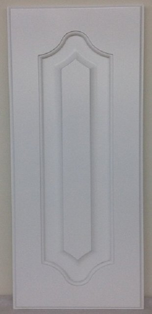 mdf double arch raised panel in white