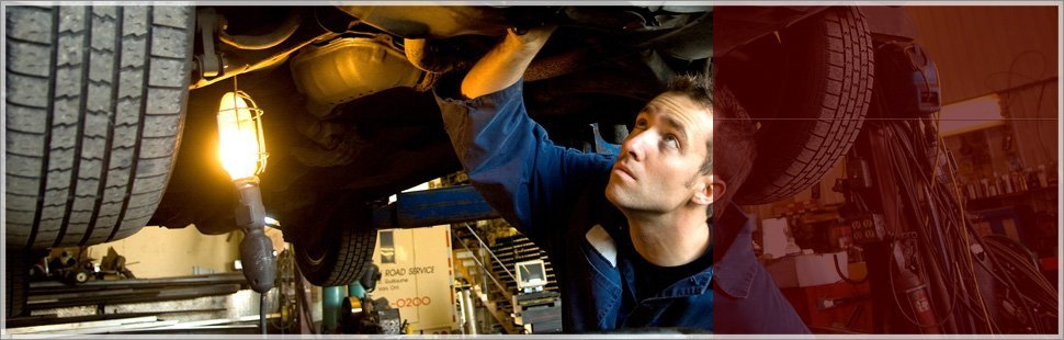 Mechanic checking the engine