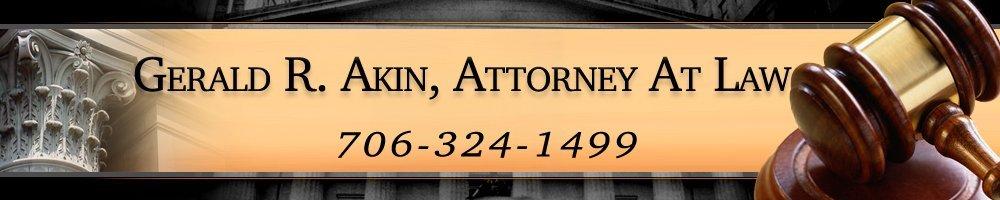 Criminal Law  - Columbus, GA - Gerald R. Akin Attorney At Law