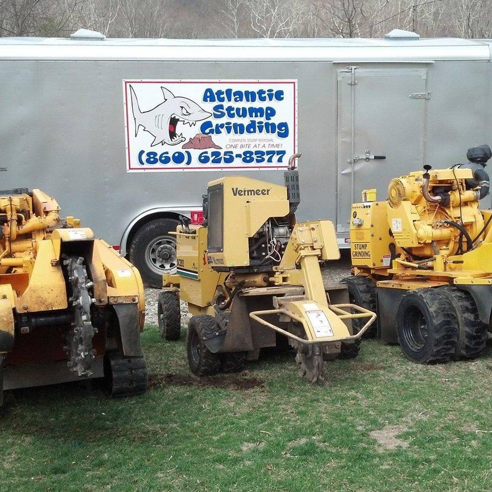 Tree stump removal equipment