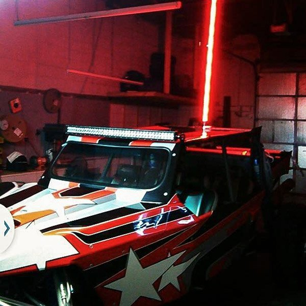 LED whip and light bar