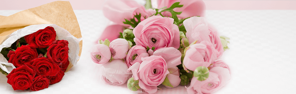 Bunch of rose flowers