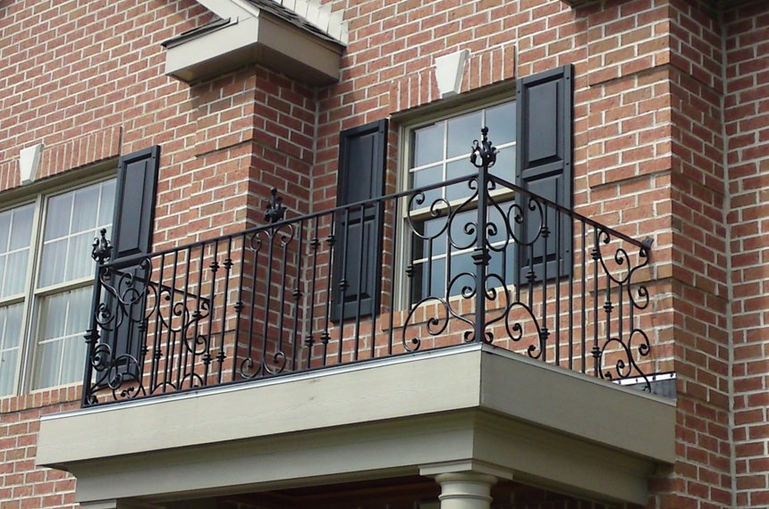 iron balcony