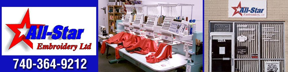 Embroidery Services - Newark, OH - All-Star Embroidery Ltd