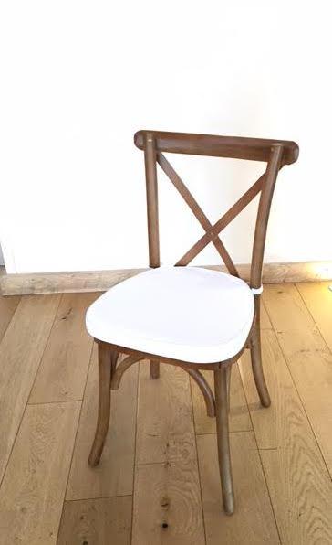 Cross Back Wooden Chair
